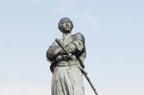 Statue de Sakamoto Ryoma à Teramachi, préfecture de Nagasaki