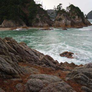 Côte d'Uradome vue depuis la route côtière, Iwami, préfecture de Tottori