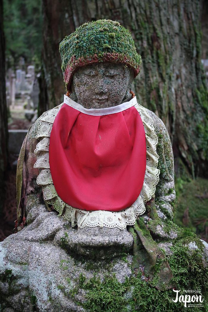 Jizô au cimetière Okunoin, Koyasan, préfecture de Wakayama