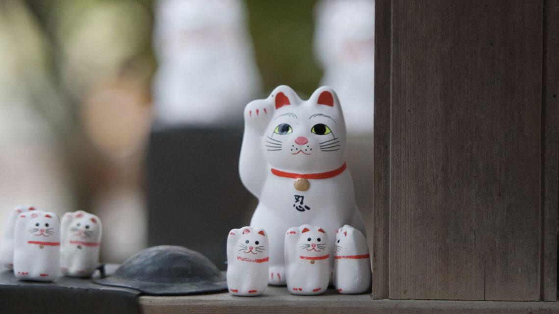 Les maneki neko du temple Gotokuji à Setagaya, préfecture de Tokyo