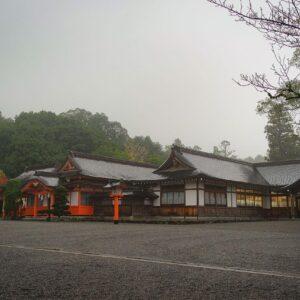 Cour du sanctuaire Usa jingu, Usa, préfecture d'Oita