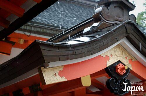Pluie sur les toits du sanctuaire Usa jingu, Usa, préfecture d'Oita