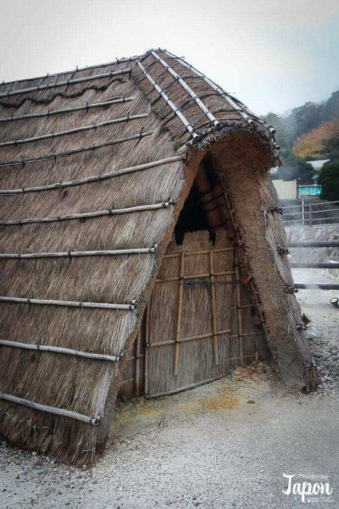 Hutte yunohana goya, Enfer de Myoban jigoku, Beppu, préfecture d'Oita