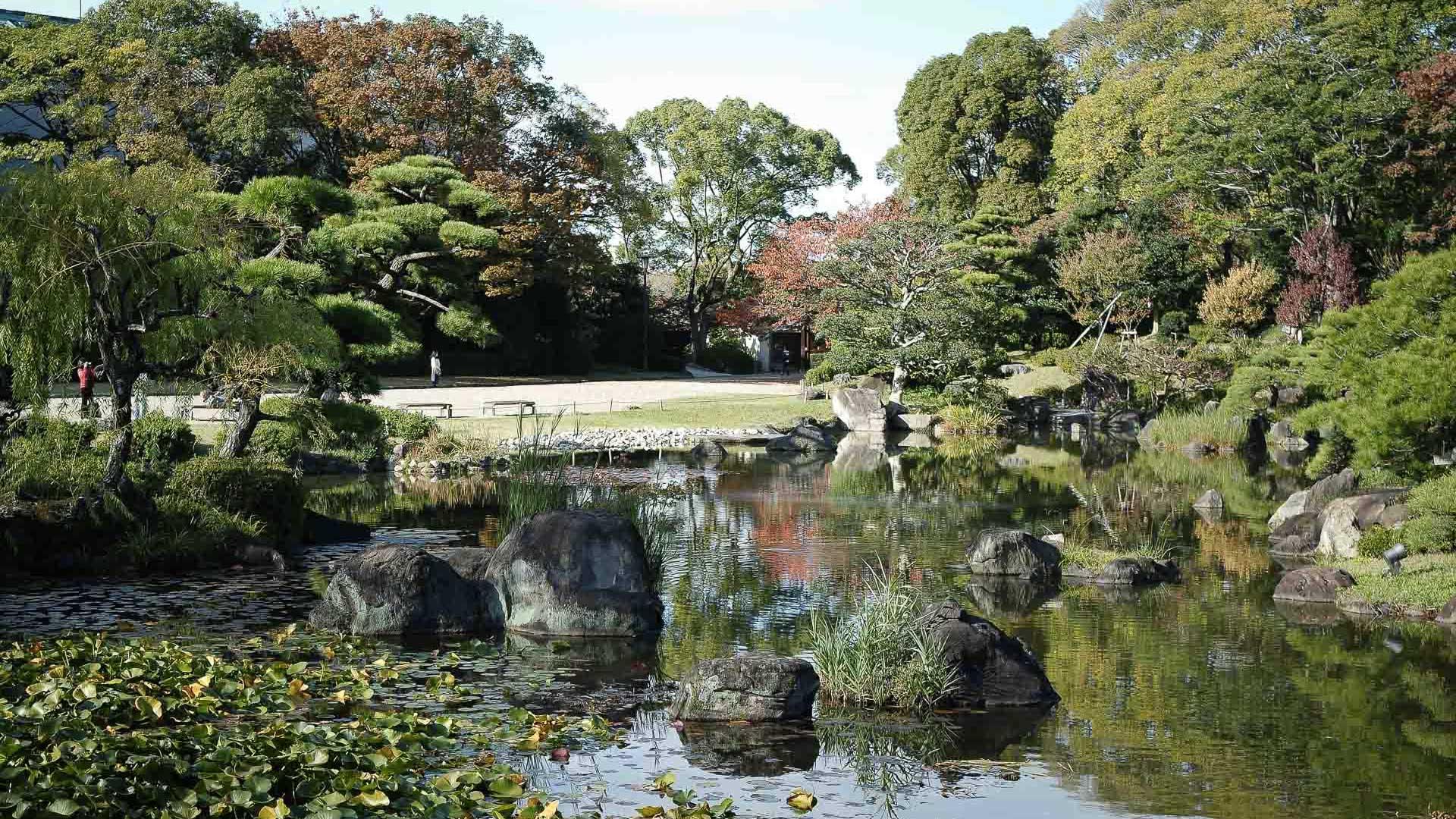 Jardin Keitaku-en à Tennoji, préfecture d'Osaka