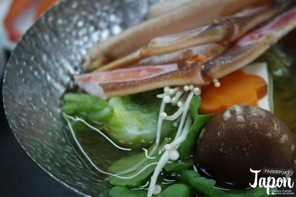 Dîner shabu-shabu à Kinosaki onsen, préfecture de Hyogo