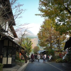 Rue commerçante Yunotsubo kaido, Yufuin, préfecture d'Oita