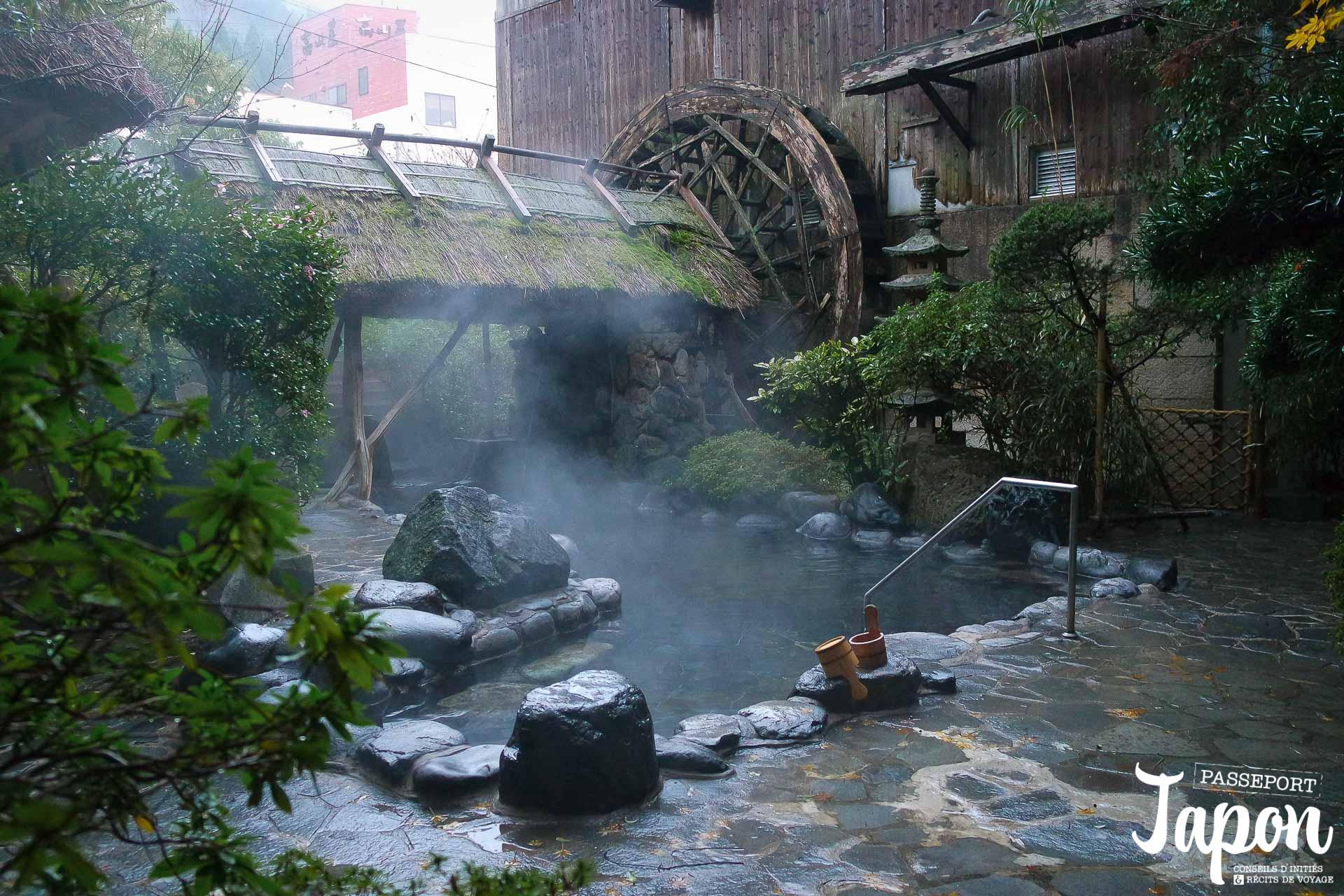 Rotenburo au ryokan Asanoya, Yumura onsen, préfecture de Hyogo