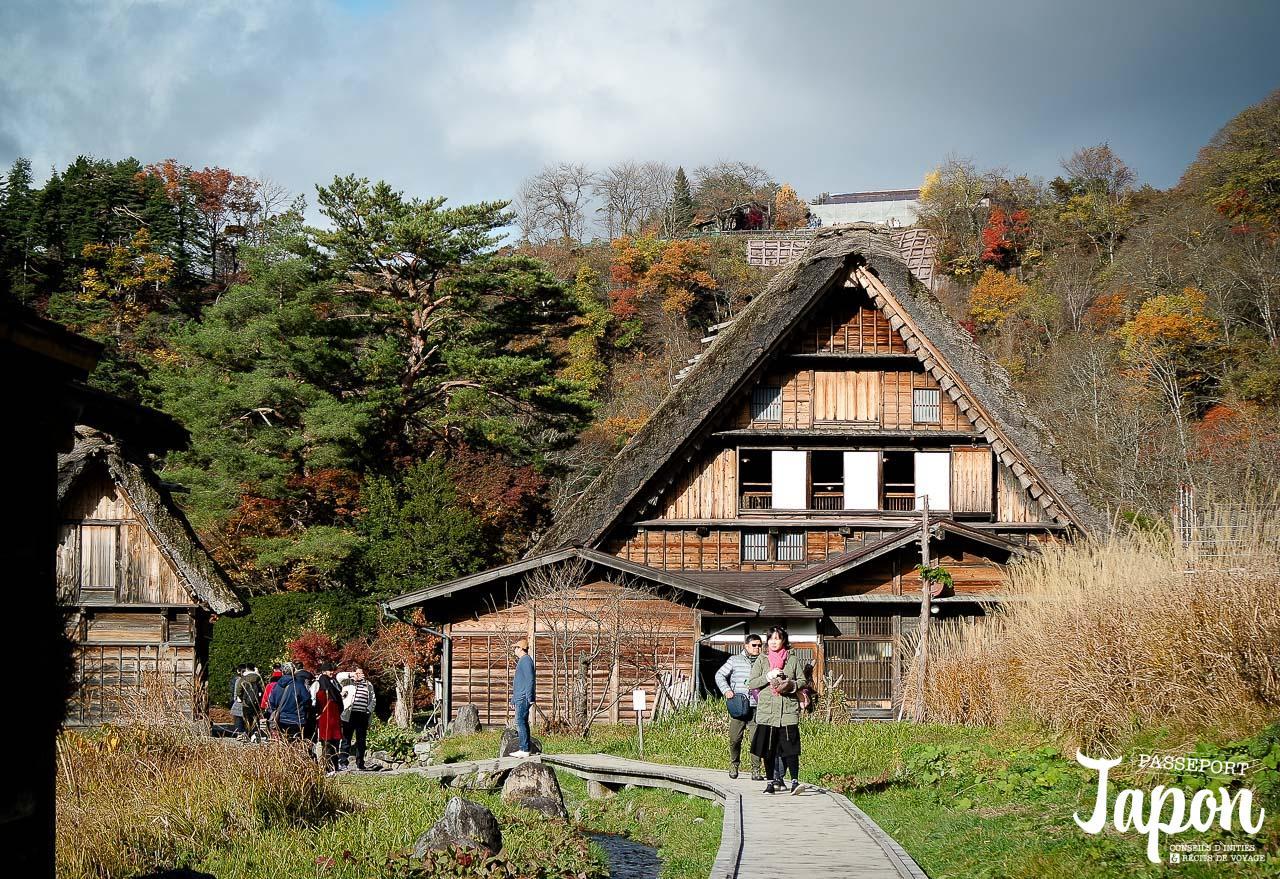 Maisons gassho-zukuri, Shirakawago, préfecture de Gifu