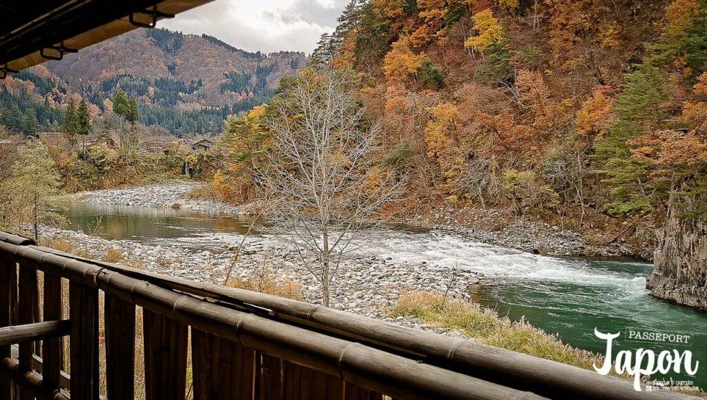 Vue depuis Shirakawago onsen, préfecture de Gifu