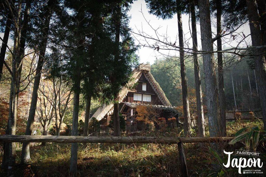 Maison gassho-zukuri au village folklorique de Hida-no-sato, Takayama, préfecture de Gifu