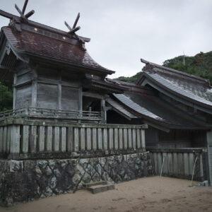 Sanctuaire Hakuto-jinja, vue arrière, préfecture de Tottori