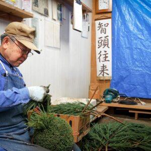 La fabrication des sugidama, Chizu, préfecture de Tottori