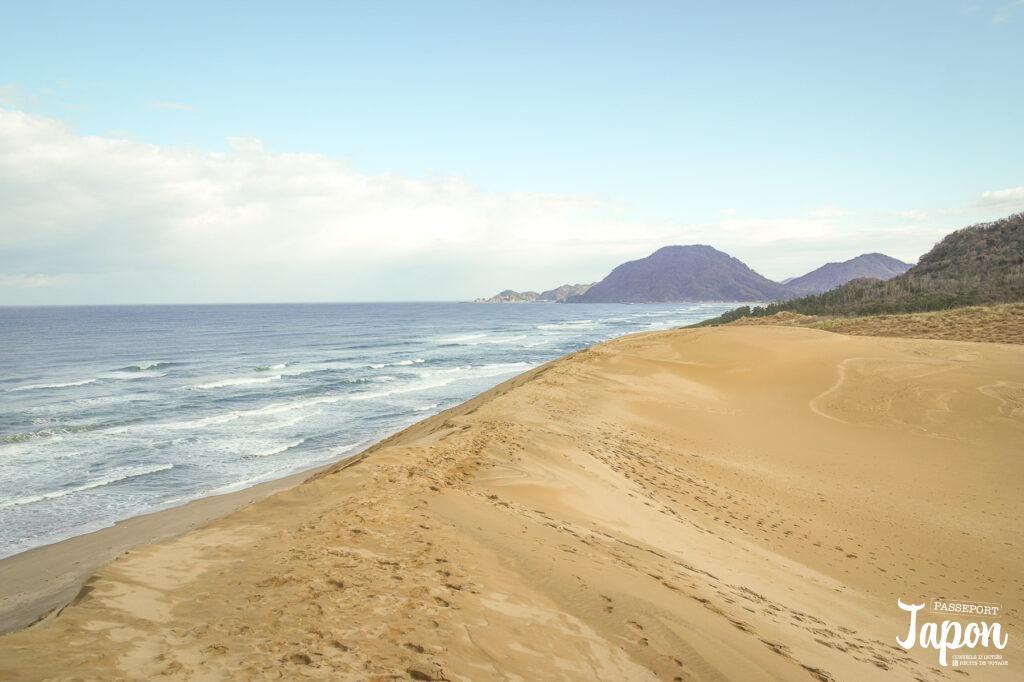 Vue sur la mer du Japon depuis les dunes, préfecture de Tottori