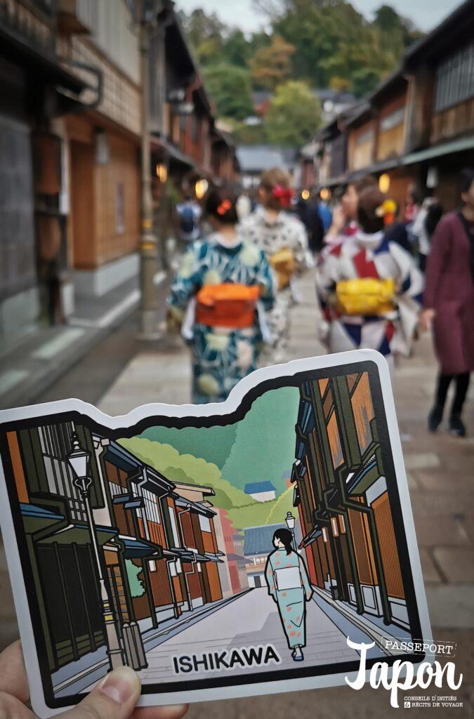 Gotochi card challenge Higashi chaya, Kanazawa, préfecture d'Ishikawa