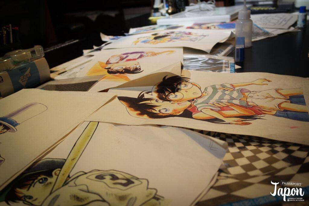Illustrations Détective Conan, Gosho Aoyama Manga Factory, Hokuei, préfecture de Tottori