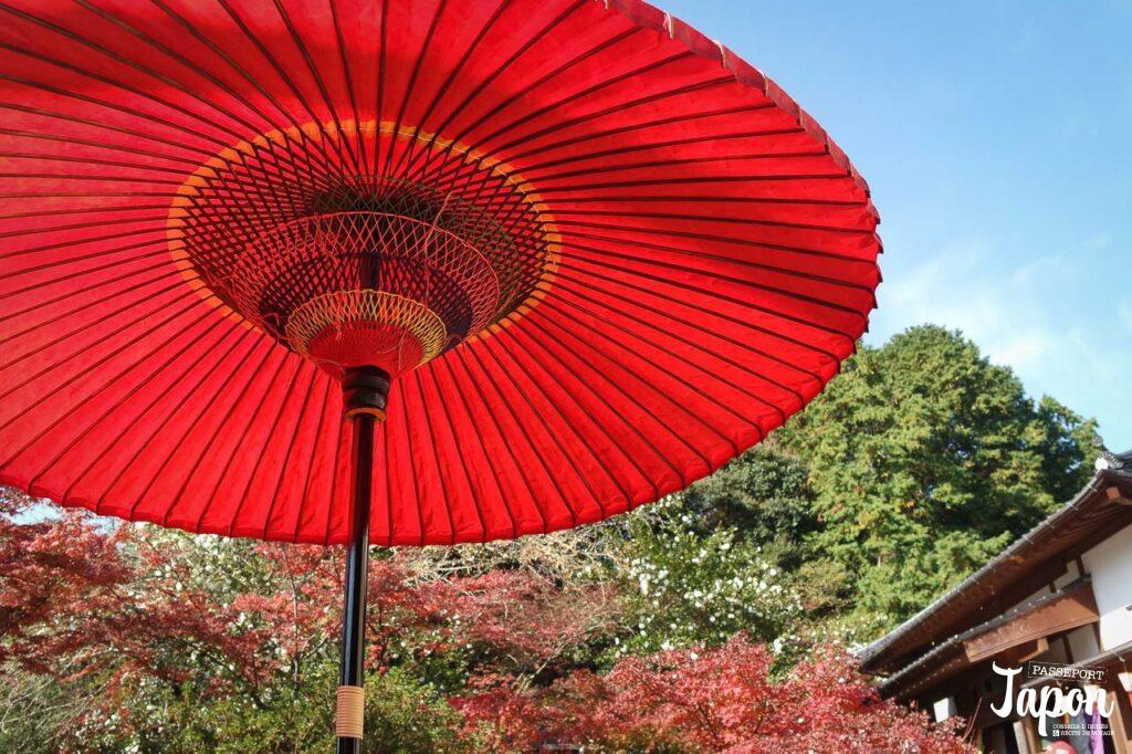 Parasol au temple jizoin de Kunenan, Kanzaki, préfecture de Saga