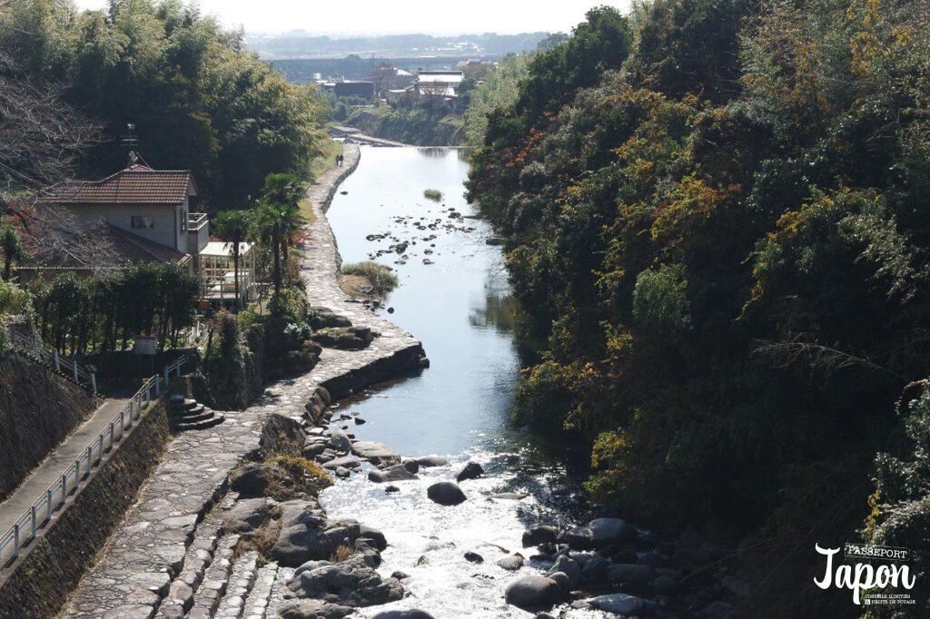 Vue sur la rivière, Kanzaki, préfecture de Saga