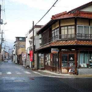 Rue commerçante à Kurayoshi, préfecture de Tottori