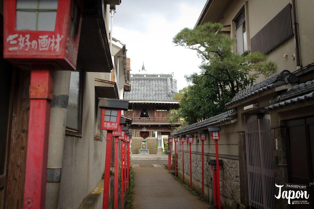 Ruelle du temple Dairen-ji à Kurayoshi, préfecture de Tottori
