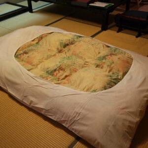 Futon au ryokan, Misasa, préfecture de Tottori