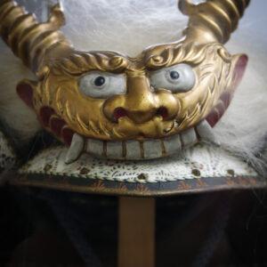 Casque de samourai, musée Watanabe, préfecture de Tottori