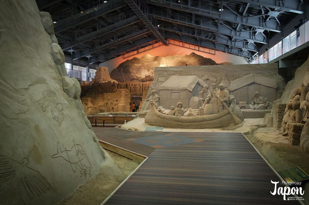 Salle d'exposition au musée du sable, préfecture de Tottori