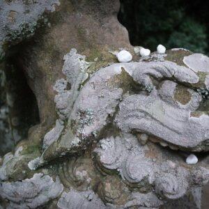 Statue komainu, sanctuaire Hakuto-jinja, préfecture de Tottori