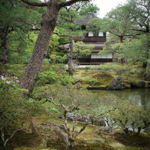 Ginkaku-ji et son étang, préfecture de Kyoto
