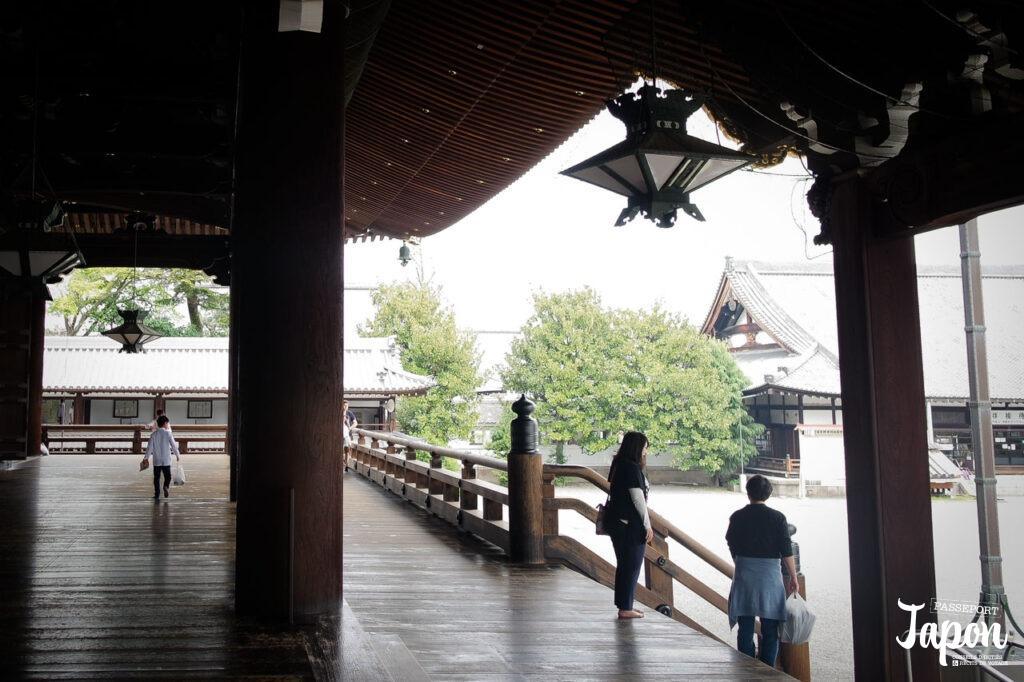 Couloir du temple Higashi Honganji, préfecture de Kyoto