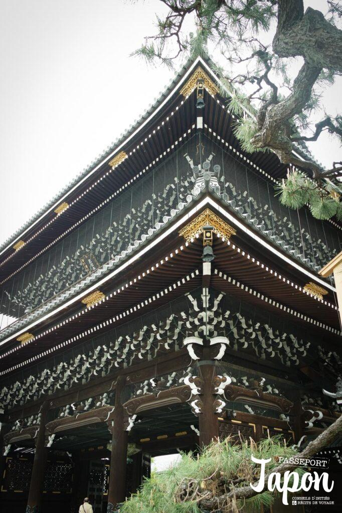 Porte du temple Higashi Honganji, préfecture de Kyoto