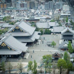 Higashi Honganji depuis la Kyoto Tower, préfecture de Kyoto