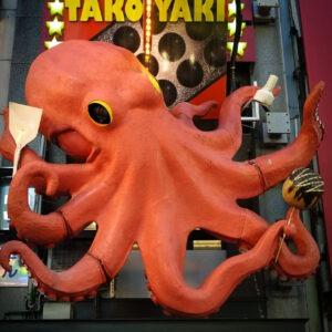 Enseigne tako géant à Dotonbori, préfecture d'Osaka