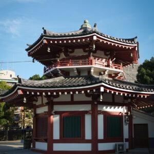 Pavillon au temple Shi-Tennoji, préfecture d'Osaka