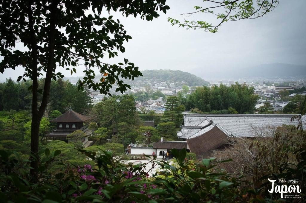 Panorama sur Ginkaku-ji depuis les hauteurs, préfecture de Kyoto