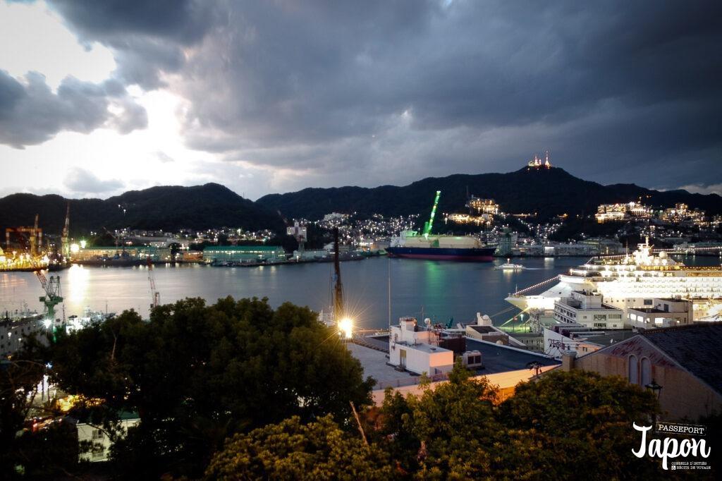 Panorama sur le port depuis Glover Garden, Nagasaki