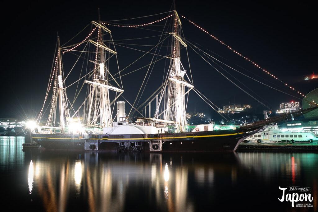 Trois-mâts, port de Nagasaki