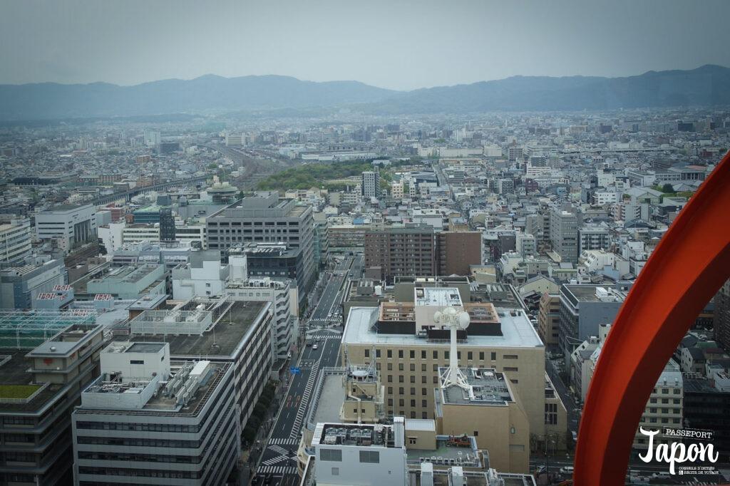 Vue sur Kyoto depuis la Kyoto Tower, préfecture de Kyoto