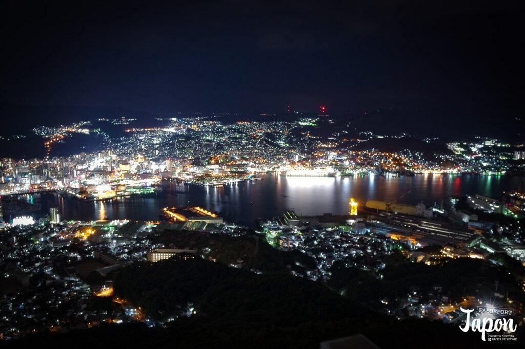 Vue nocturne depuis le mont Inasa, Nagasaki