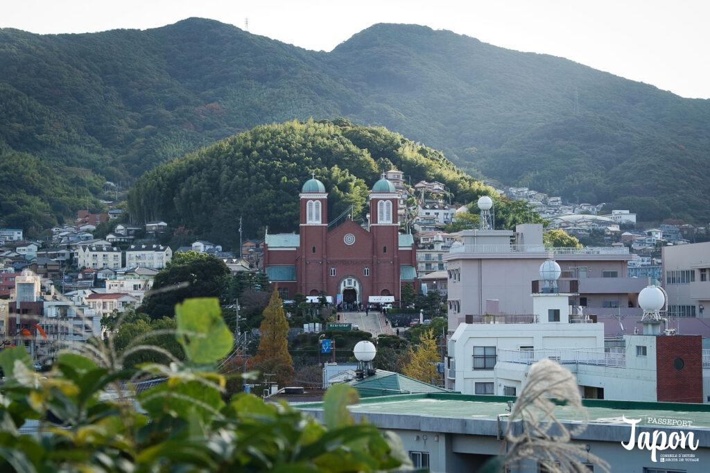 Panorama sur la cathédrale d'Urakami, Nagasaki