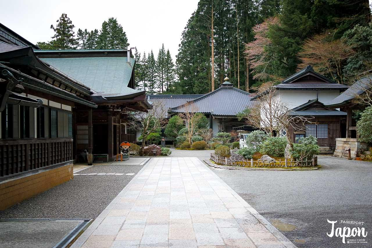 Entrée du temple Jimyoin à Koyasan, préfecture de Wakayama