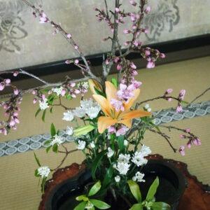 Ikebana au temple Jimyoin à Koyasan, préfecture de Wakayama