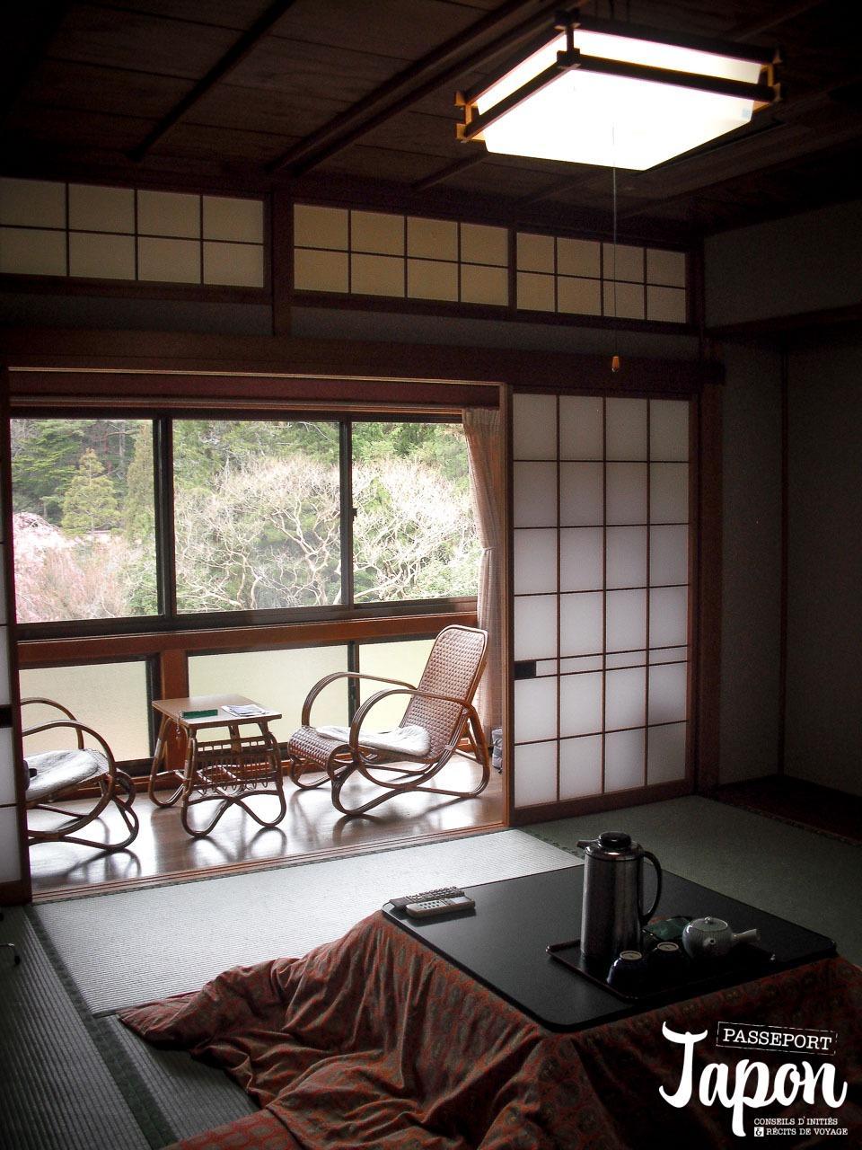 Chambre de style japonais au temple Jimyoin à Koyasan, préfecture de Wakayama