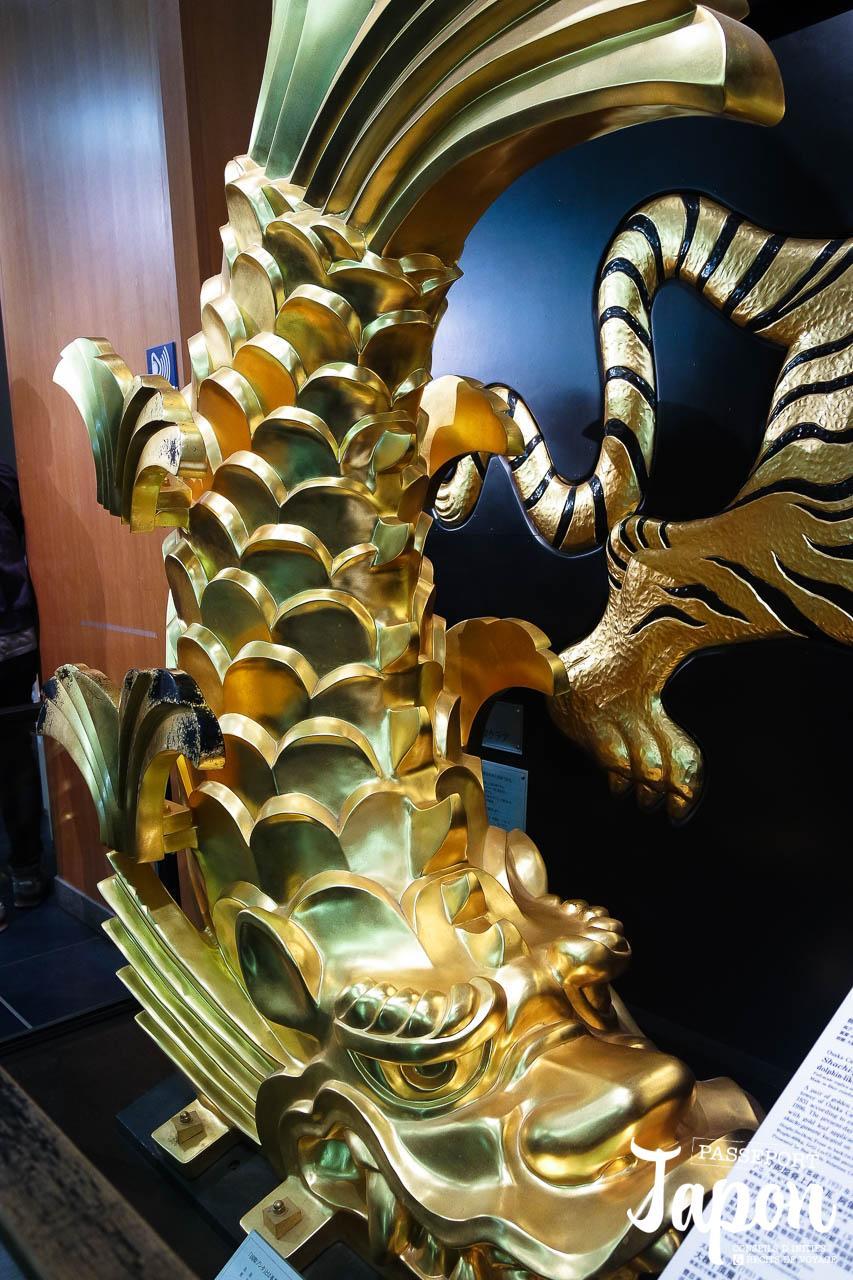 Shachihoko au musée du château d'Osaka