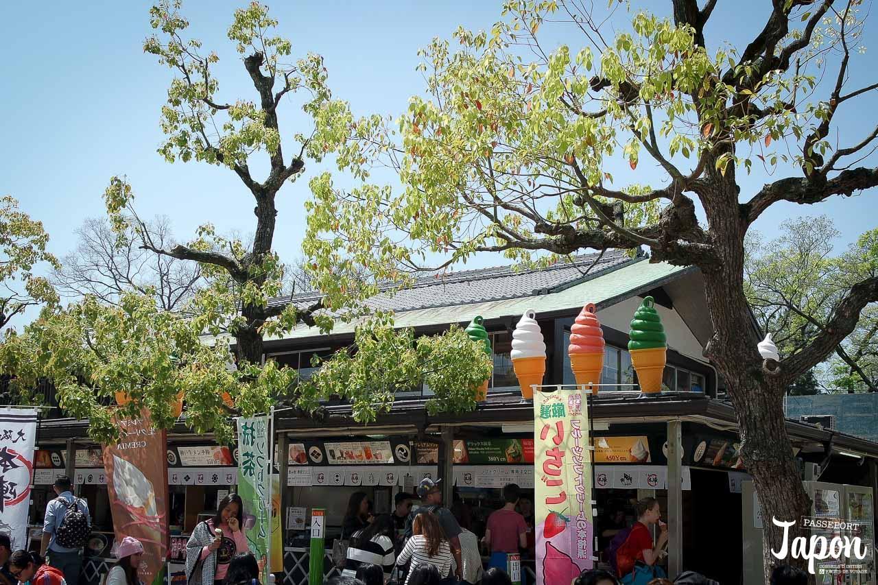 Stand de street food, château d'Osaka