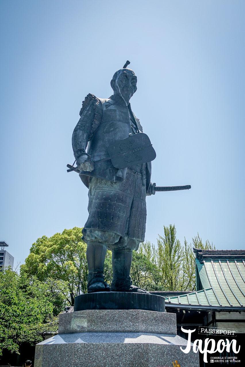 Statue de Toyotomi Hideyoshi, château d'Osaka